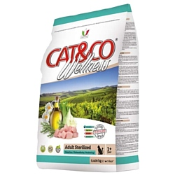 Adragna (10 кг) Cat&Co Wellness Adult Sterilized Chicken and Barley