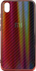 EXPERTS Aurora Glass для Xiaomi Redmi 7A с LOGO (красно-синий)