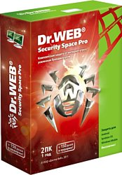 Dr.Web Security Space Pro (1 ПК, 1 год)