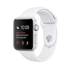 Apple Watch Series 2 38mm Silver with White Sport Band (MNNW2)