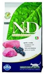 Farmina N&D Grain-Free Feline Lamb & Blueberry Adult (1.5 кг)