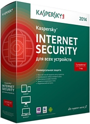 Kaspersky Internet Security (3 ПК, 1 год, диск)