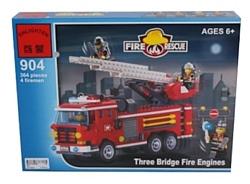 Enlighten Brick Пожарные 904 Пожарные машины