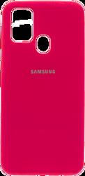 EXPERTS SOFT-TOUCH case для Samsung Galaxy M21 с LOGO (неоново-розовый)