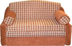Купить прямой диван мебель-арс кармен - верона рыжий в минск.
