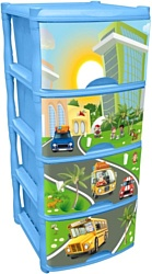 Little Angel City Cars Tutti 4 ящика