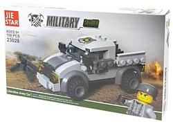 Jie Star Military 23028 Машина армии Освобождения 3 в 1