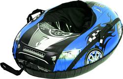 Тяни-Толкай Машинка Comfort со спинкой (синий)