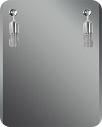 Dubiel Vitrum Atos 55x70 зеркало (5905241015699)