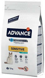Advance (1.5 кг) Cat Sterilized Sensitive лосось и ячмень