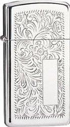Zippo Slim Venetian 1652 High Polish Chrome