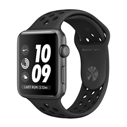 Apple Watch Nike+ 42mm Space Gray with Black Nike Sport Band (MQ182)