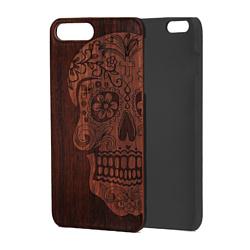 Case Wood для Apple iPhone 7/8 (палисандр, череп женский)
