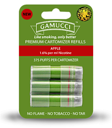 Gamucci MICRO CARTOMIZERS APPLE 1.6% REGULAR