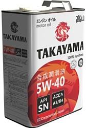 Takayama 5W-40 API SN/CF 1л