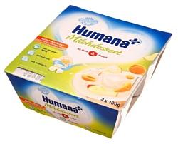 Humana с яблоком и абрикосом, 4x100 г