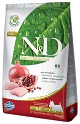 Farmina N&D Grain-Free Canine Chicken & Pomegranate Adult Mini (2.5 кг)