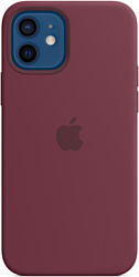 Apple MagSafe Silicone Case для iPhone 12/12 Pro (сливовый)