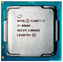 Intel Core i7-8086K Coffee Lake (4000MHz, LGA1151 v2, L3 12288Kb)