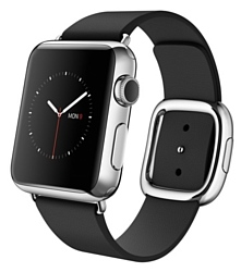 Apple Watch 38mm Stainless Steel with Black Modern Buckle (MJYL2)