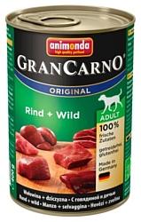 Animonda GranCarno Original Adult для собак с говядиной и дичью (0.4 кг) 6 шт.