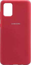 EXPERTS SOFT-TOUCH case для Samsung Galaxy M31 с LOGO (малиновый)
