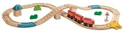 """PlanToys Стартовый набор """"Железная дорога в виде восьмёрки"""" 6605"""