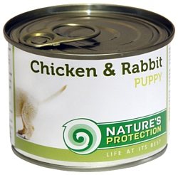 Nature's Protection Консервы Puppy Chicken & Rabbit (0.2 кг) 1 шт.