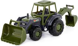 Полесье Мастер трактор-экскаватор военный РБ 49285
