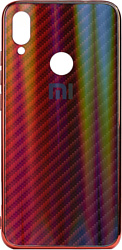 EXPERTS Aurora Glass для Xiaomi Redmi Note 7 с LOGO (красно-синий)