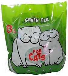 For Cats с ароматом зеленого чая 8л