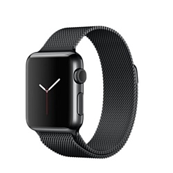 Apple Watch 38mm Space Black with Space Black Milanese Loop (MMFK2)