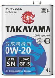Takayama 0W-20 API SN 1л
