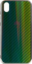 EXPERTS Aurora Glass для Huawei Y5 (2019)/Honor 8S с LOGO (зеленый)