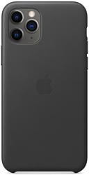 Apple Leather Case для iPhone 11 Pro Max (черный)