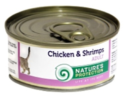 Nature's Protection Консервы Cat Adult Chicken & Shrimps (0.1 кг) 1 шт.