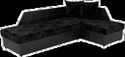 Mebelico Андора 59112 (вельвет черный/экокожа черная)