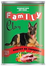 CLAN (0.97 кг) 1 шт. Family Паштет из говядины для собак