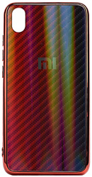 EXPERTS Aurora Glass для Xiaomi Redmi 7 с LOGO (красно-синий)