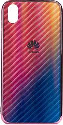EXPERTS Aurora Glass для Huawei Y5 (2019)/Honor 8S с LOGO (розовый)
