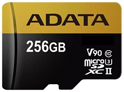 ADATA Premier ONE microSDXC UHS-II U3 Class 10 256GB + SD adapter