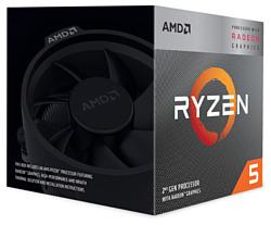 AMD Ryzen 5 3400G Picasso (AM4, L3 4096Kb)
