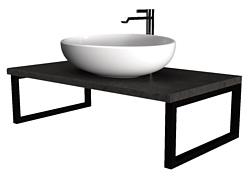 1Марка Столешница Grunge Loft 100 У85838 (бетон темно-серый)