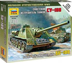 """Звезда Советский истребитель танков """"СУ-100"""" 1:100"""