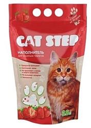 Cat Step Cиликагелевый с ароматом клубники 3.8л