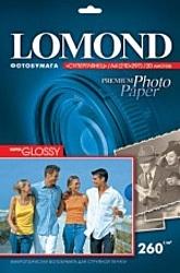 Lomond Суперглянцевая A4 260 г/кв.м. 20 листов (1103101)