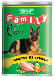 CLAN Family Паштет из курицы для собак (0.970 кг) 1 шт.