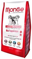 Monge (3 кг) Dog Mini Puppy&Junior – Курица с рисом. Для щенков и юниоров мелких пород