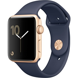 Apple Watch Series 2 42mm Gold with Midnight Blue Sport Band (MQ152)