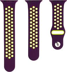 Evolution AW40-SP01 для Apple Watch 38/40 мм (dark purple/fluo yellow)